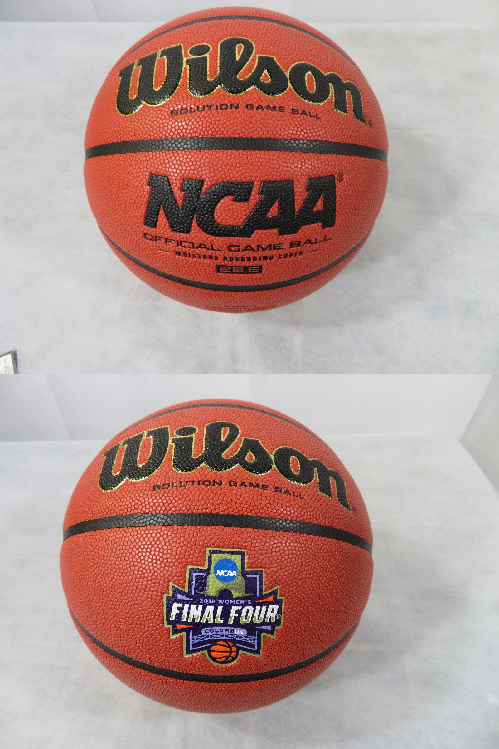 1151daca258 Balls 21208  Wilson Solution Game Ball Basketball 28.5 Ncaa Final Four Game  Columbus New -  BUY IT NOW ONLY   49.99 on  eBay  balls  wilson  solution  ...