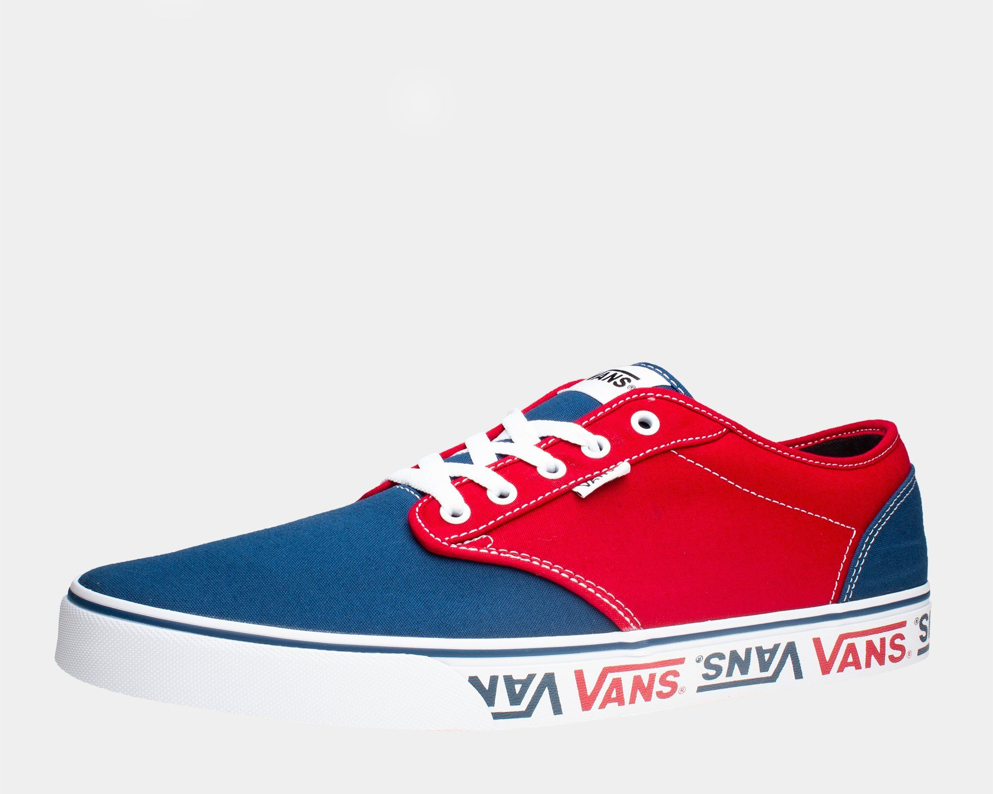 e7c15e6e1044 Vans Atwood (Sidewall Logo) Salior Blue Mens sizes 14   up big shoes for  big men international shipping available