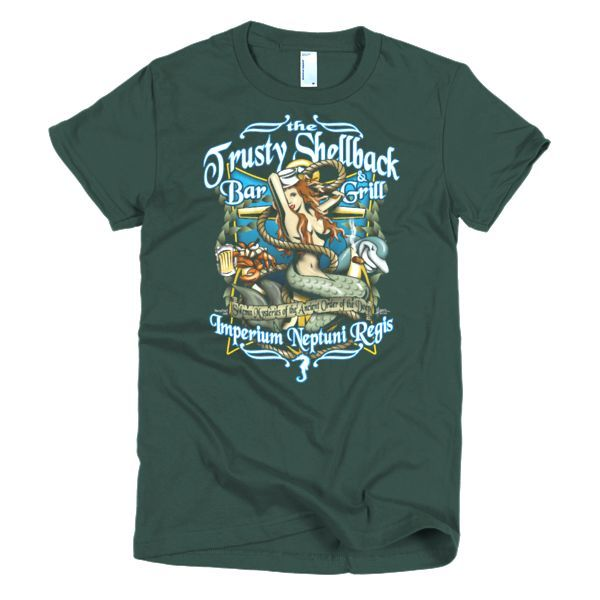 The Trusty Shellback Bar & Grill Imperium Neptuni Regis - Short sleeve women's t-shirt