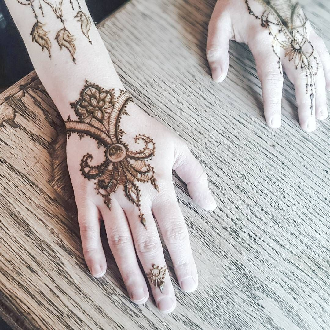 Simple Lace Like Design Henna Hennapro Hennadesign