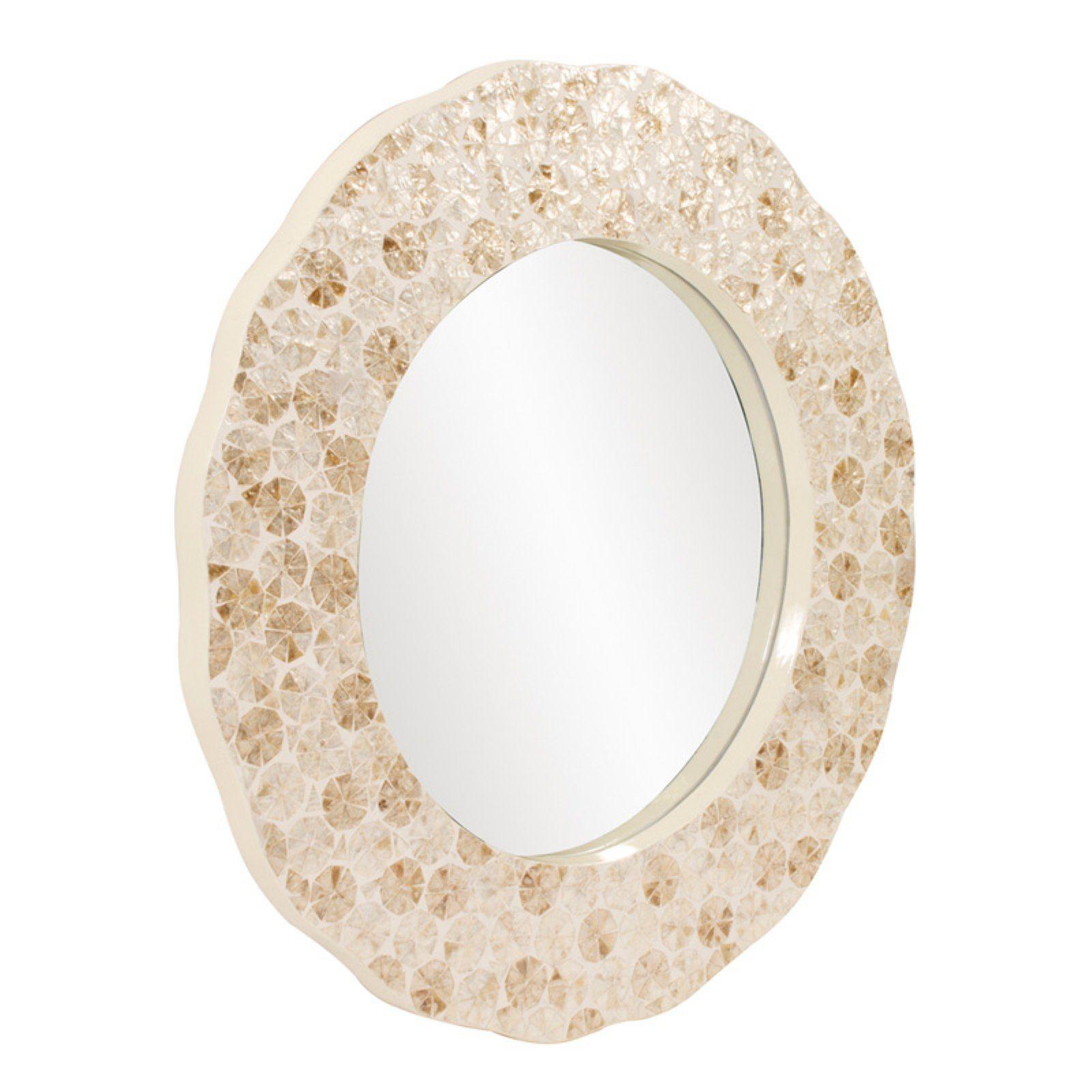 Elizabeth Austin Antigua Shell Wall Mirror 35 5 Diam In