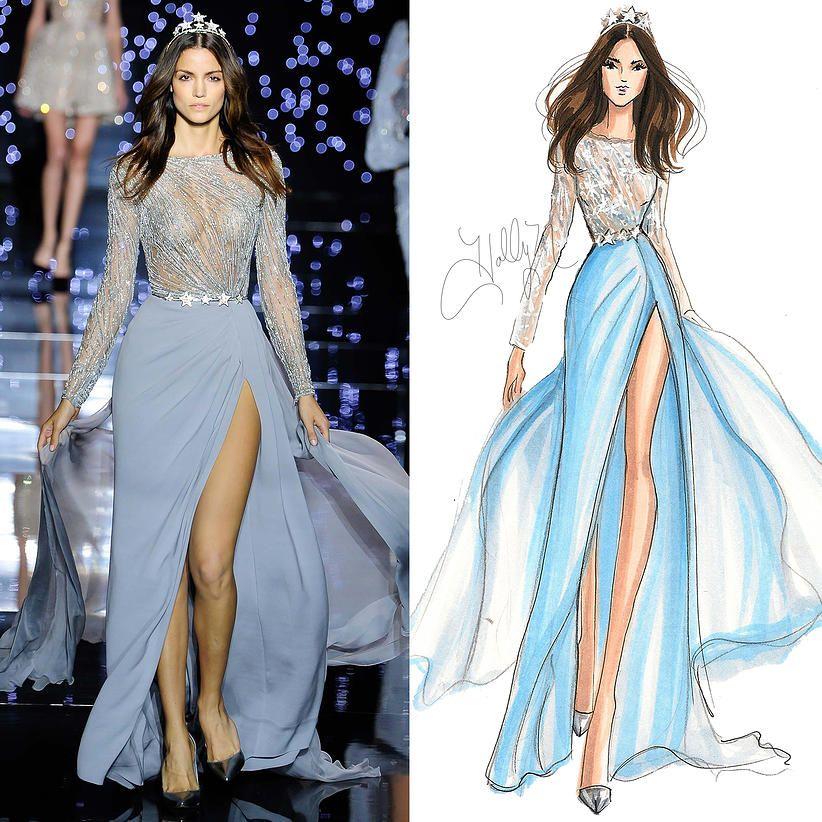 H nichols illustration fall 2015 couture sketches for Modezeichnen kurs