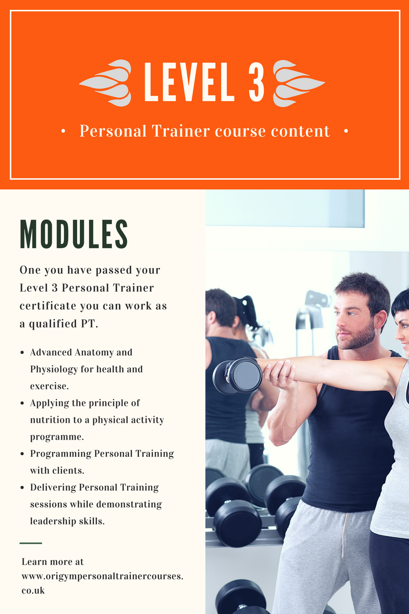 Level 3 Personal Trainer Course Content Personal Trainer