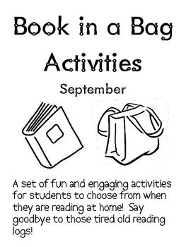 FREE September Reading Log Packet for Intermediate