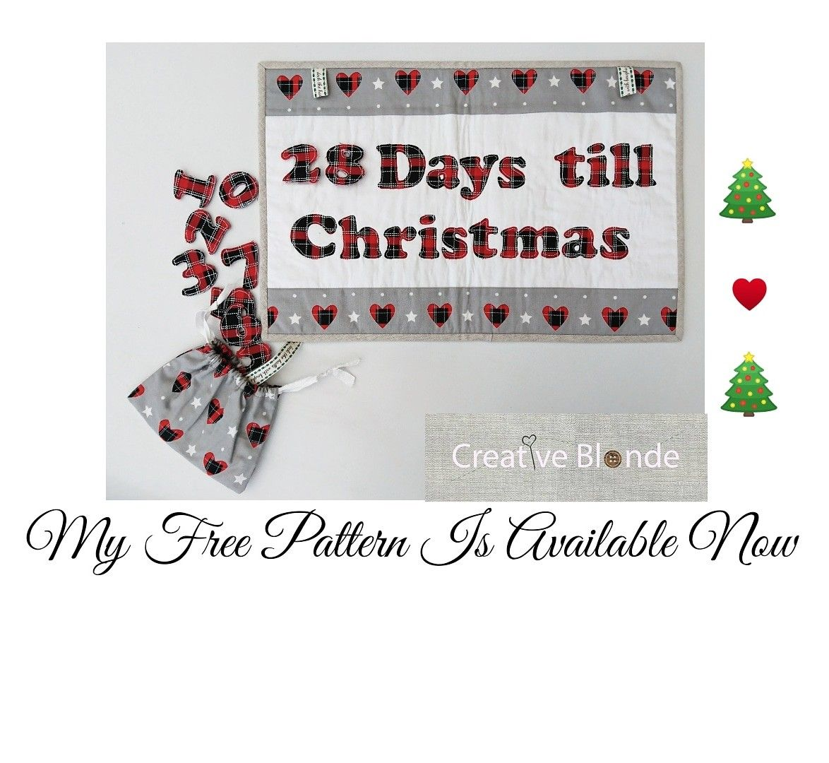 My free 'countdown to Christmas' wall hanging is avaliable