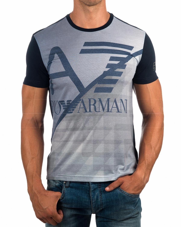 Camiseta Emporio Armani EA7 - Azul Marino & Gris