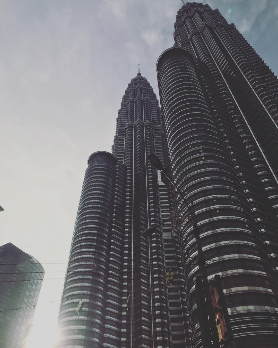 Early Morning View Of The Petronas Twin Tower At Klcc