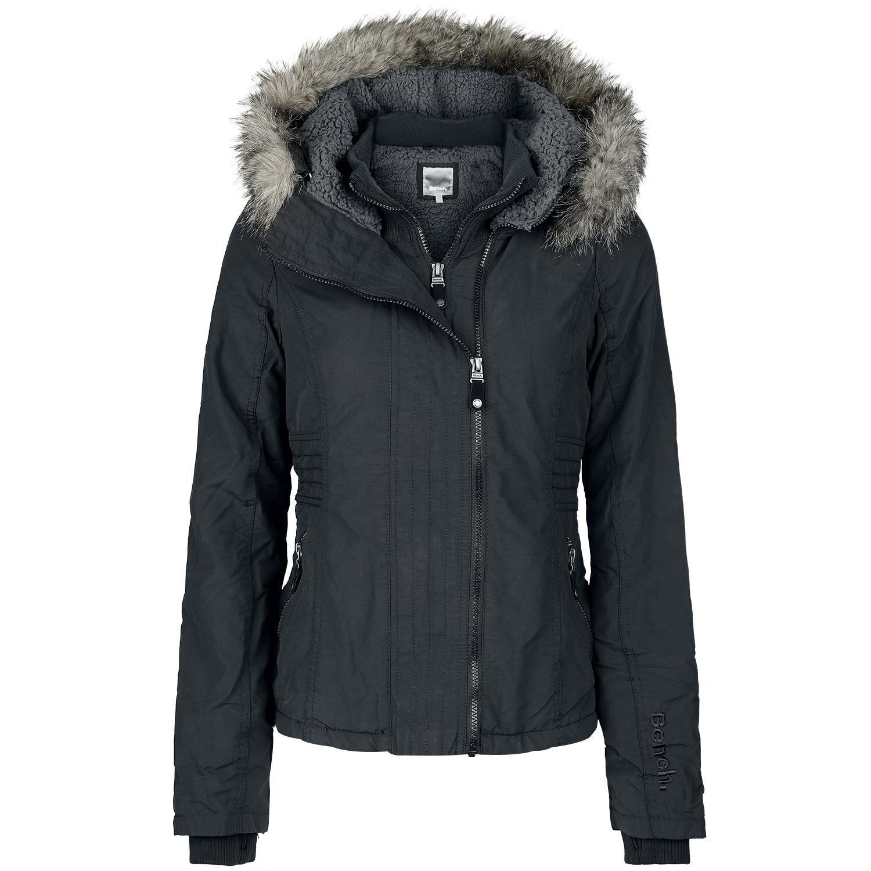 Bench Winter Jacket Women Kidder Ii Black Winter Jackets Clothes Stylish Jackets [ 1500 x 1500 Pixel ]