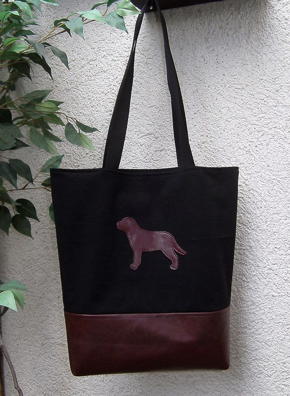 Shopper Einkaufstasche Jeans Kunstleder Tierschutz