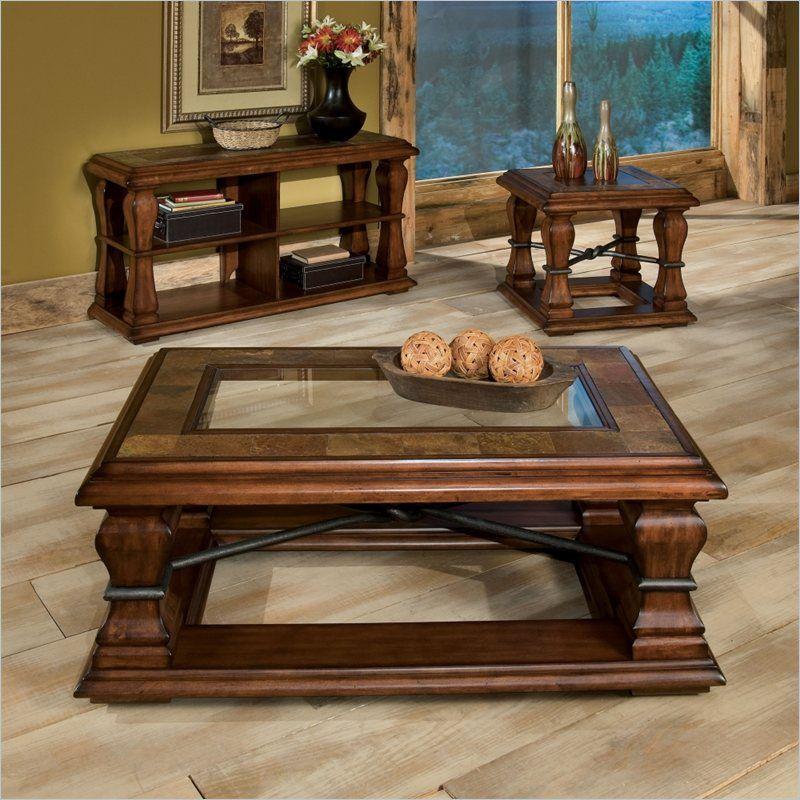 Best Standard Furniture Breckenridge 3 Piece Coffee Table Set 400 x 300