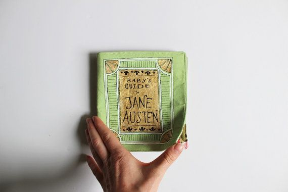 Baby's Guide to Jane Austen // Fabric Book // Literary Baby // Baby Toy // Hand-Painted