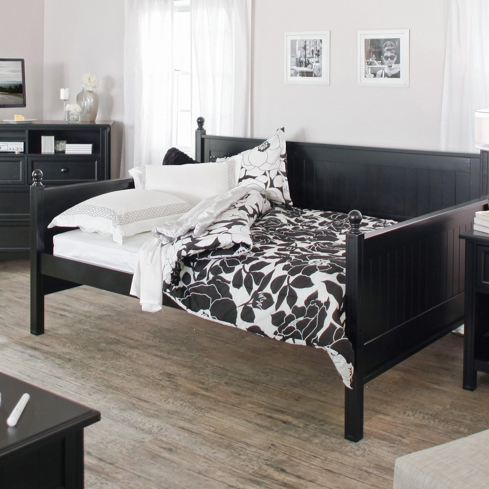 Casey Daybed Black Full Daybeds at Hayneedle Wood