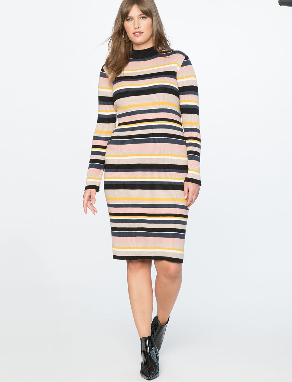 Striped Sweater Dress | Women\'s Plus Size Dresses | Plus ...