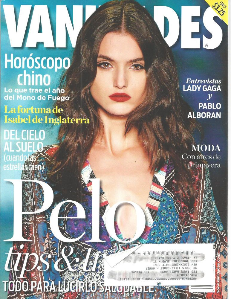 Vanidades Magazine Spanish Lady Gaga March 2016 Pelo Marzo