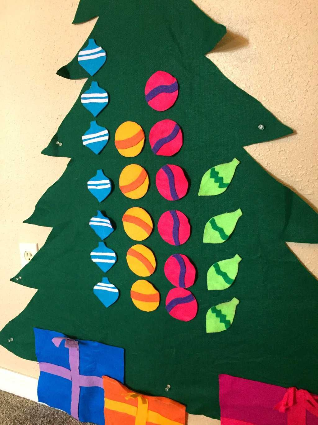 3 Simple Toddler Learning Games To Try With Your Felt Toddler Christmas Tree Toddler Christmas Tree Toddler Christmas Preschool Christmas Activities