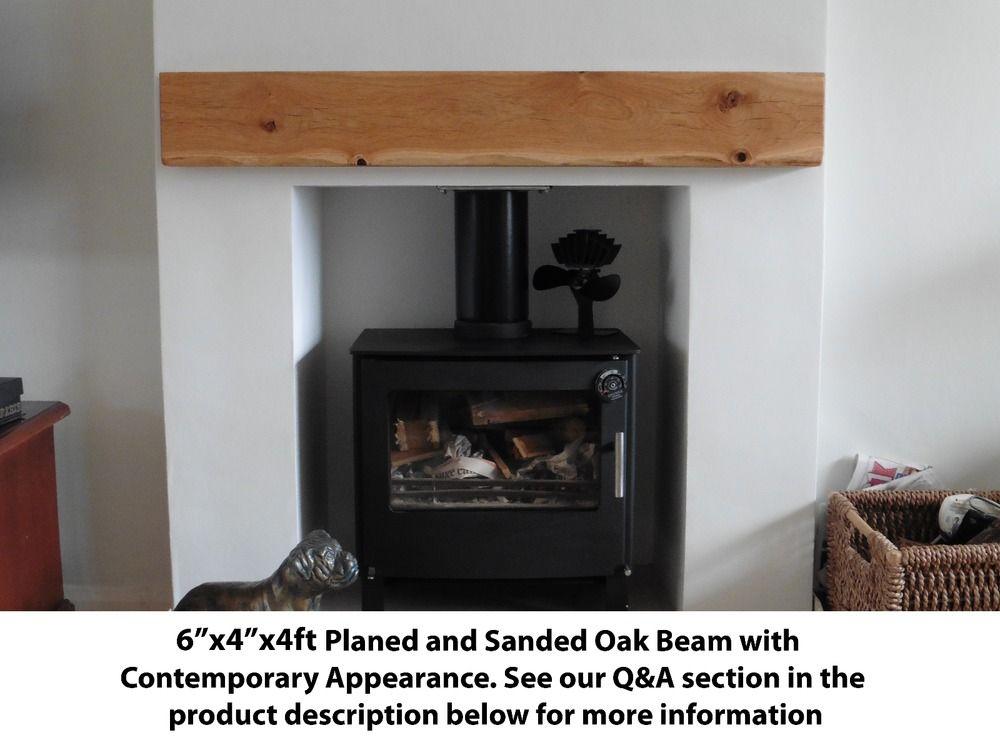 Solid Oak Beam Floating Wood Shelf Mantle Piece Fireplace Surround