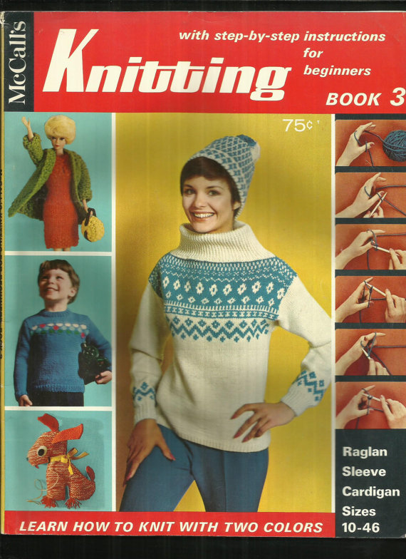 Vintage Mccalls Knitting Magazine Book 3 Knitting Projects From
