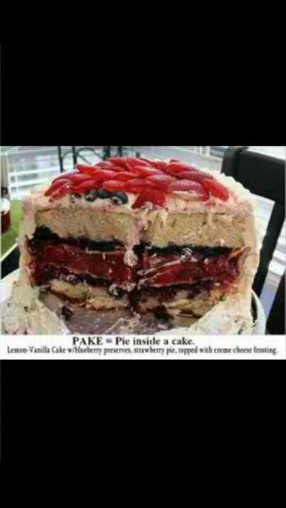 Pie in a cake