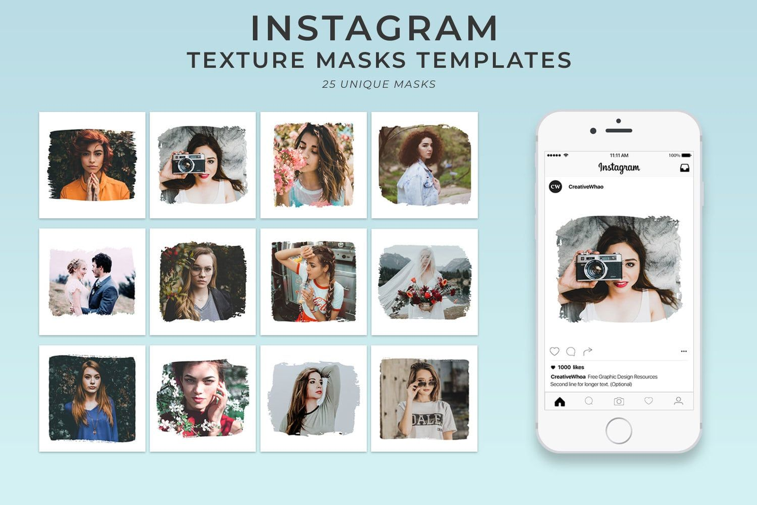 25 Textured Instagram Mask - Free PSD Templates ...