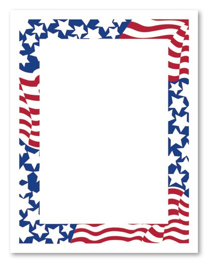 The patriotic themed letter paper stationery is perfect for an