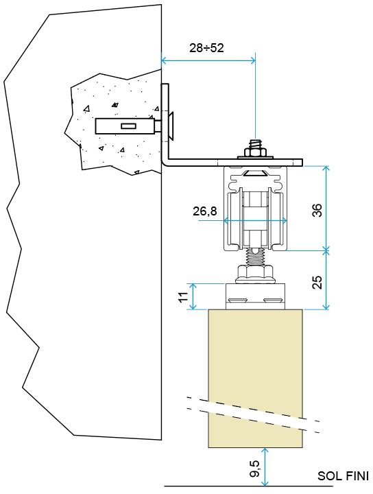 Schéma Technique Du Rail Pour Porte Coulissante En Applique