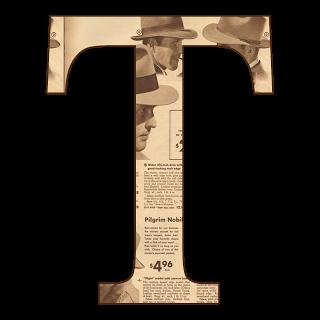 GIFS DE ABECEDARIOS Y LETRAS: Abecedario de periódico