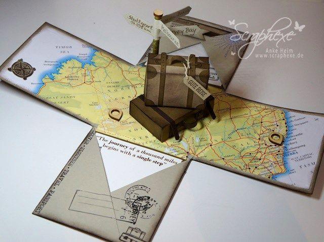 Explosion Box Australien Geschenk Reise Scraphexede
