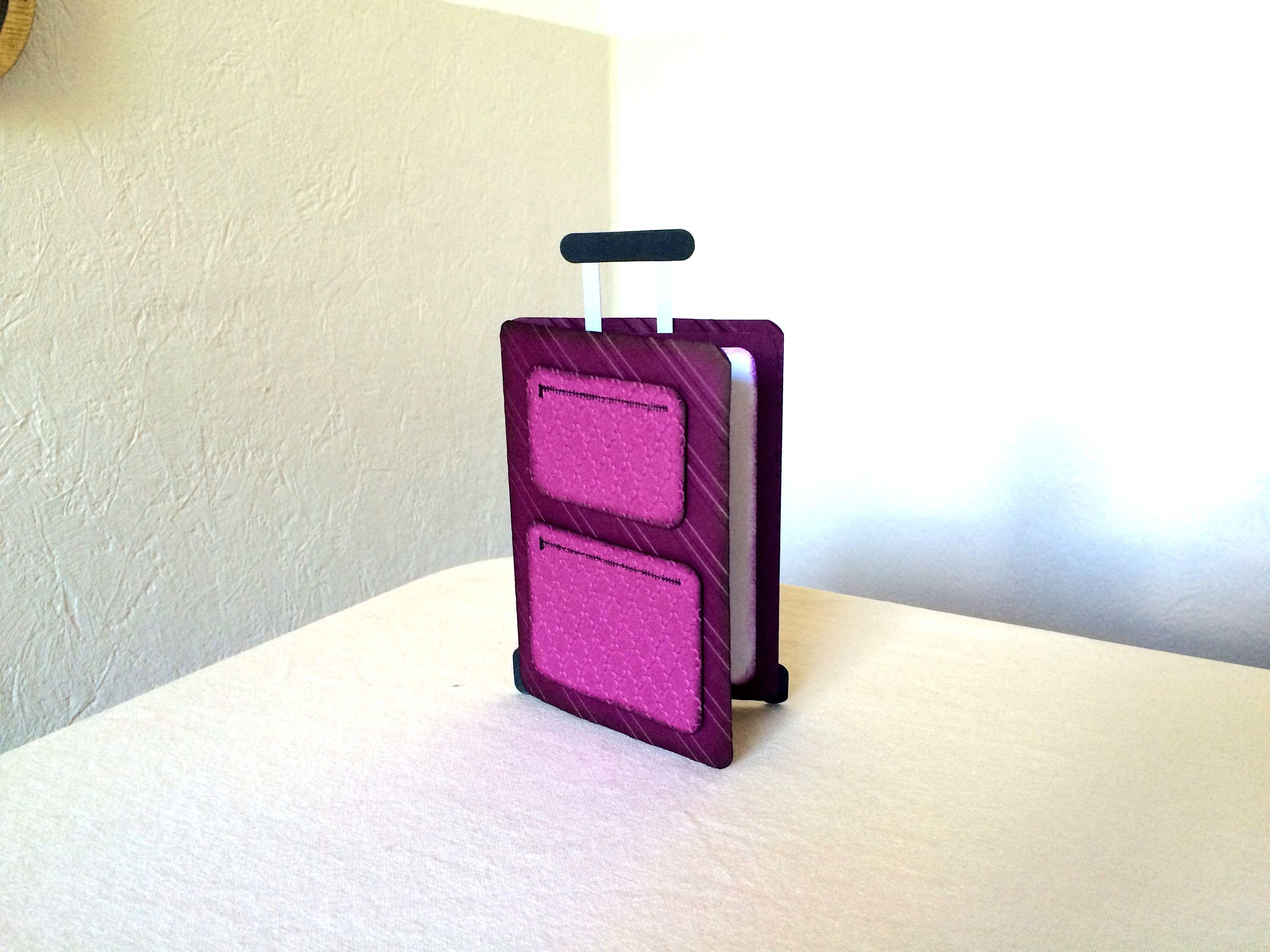 reise trolley gutschein geldgeschenk karte mit kurzanleitung basteln pinterest gift. Black Bedroom Furniture Sets. Home Design Ideas