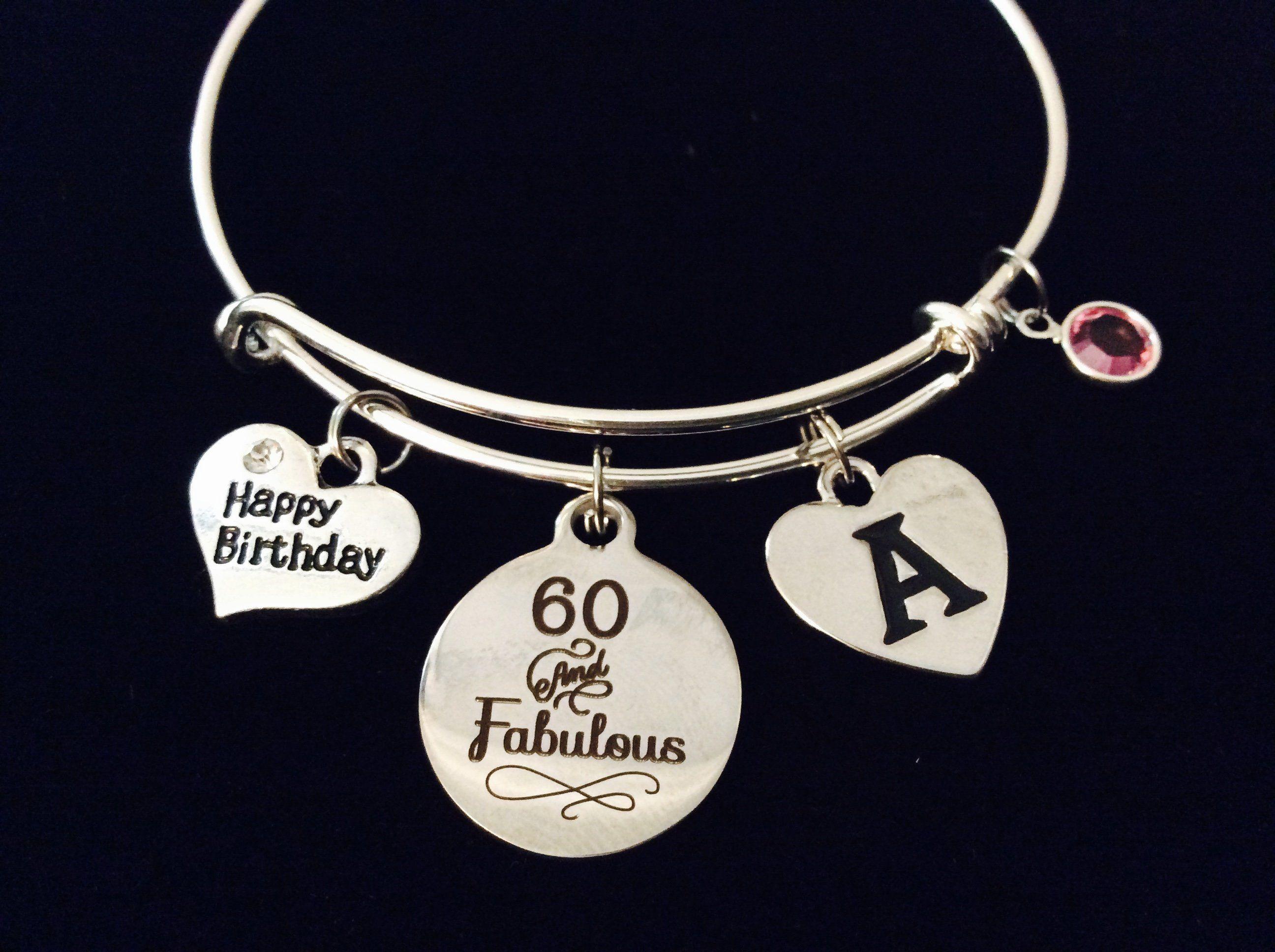 60th Birthday charm pin 60