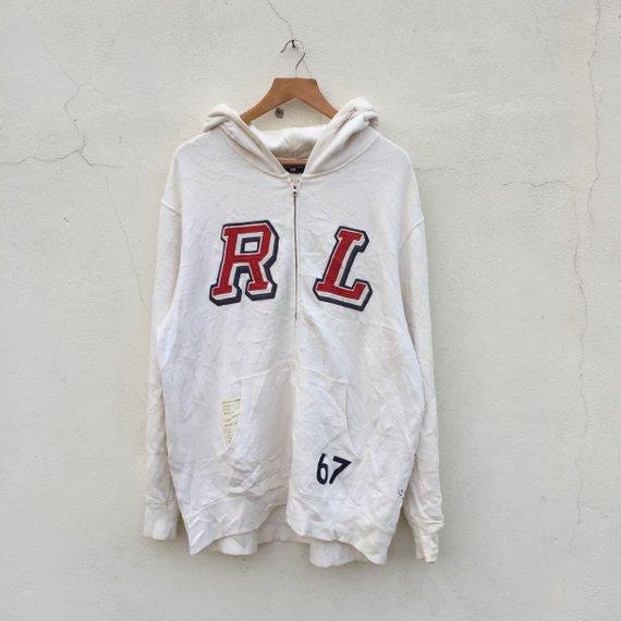 36cf1bb85cf6 Vintage 90s POLO RALPH LAUREN original logo hoodies over print embroidery  polo rl logo small pony cr