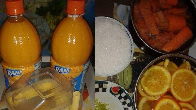 أناقة مغربية عصير البرتقال و الجزر رائع جدا