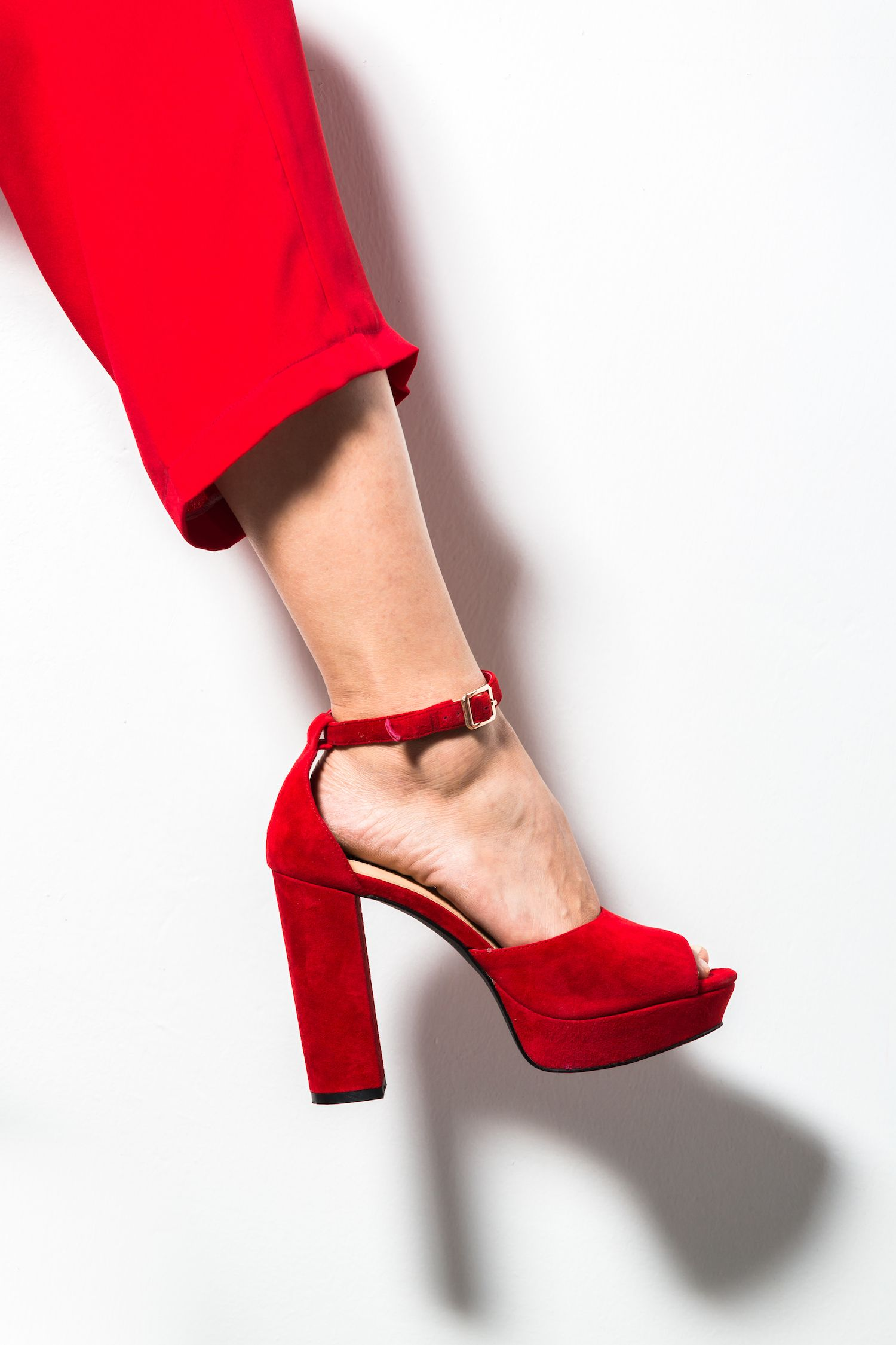 fb5a4ef533f Spicy red suede platform perfect shoes for sunday brunch jpg 1500x2250  Sunday shoes red