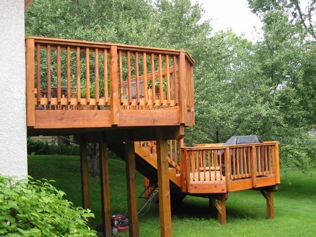 Deck Ideas For Bi Level Homes: Custom Bi-level Cedar Deck Richfield