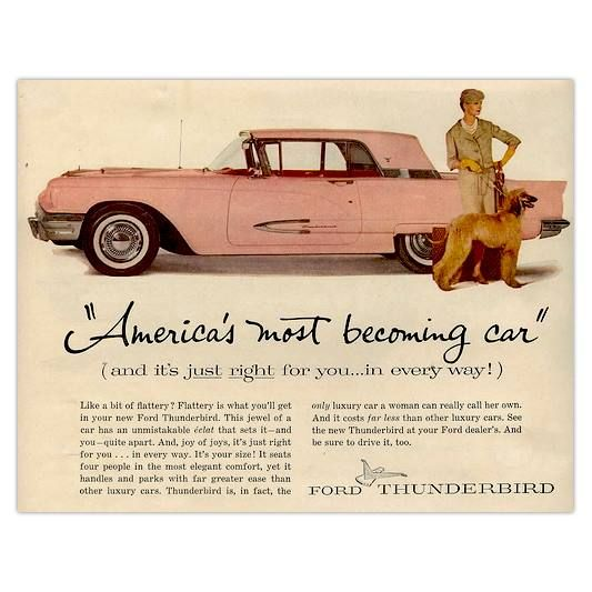 Ford Thunderbird Ad Retro Car Ads Pinterest Ford Thunderbird
