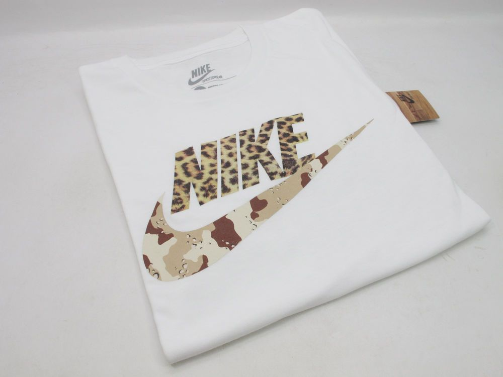 brand new b25f8 b30a1 DS 2013 NIKE X ATMOS AIR MAX S S T- SHIRT ANIMAL CAMO PACK WHITE TEE LEOPARD   Atmos  BasicTee