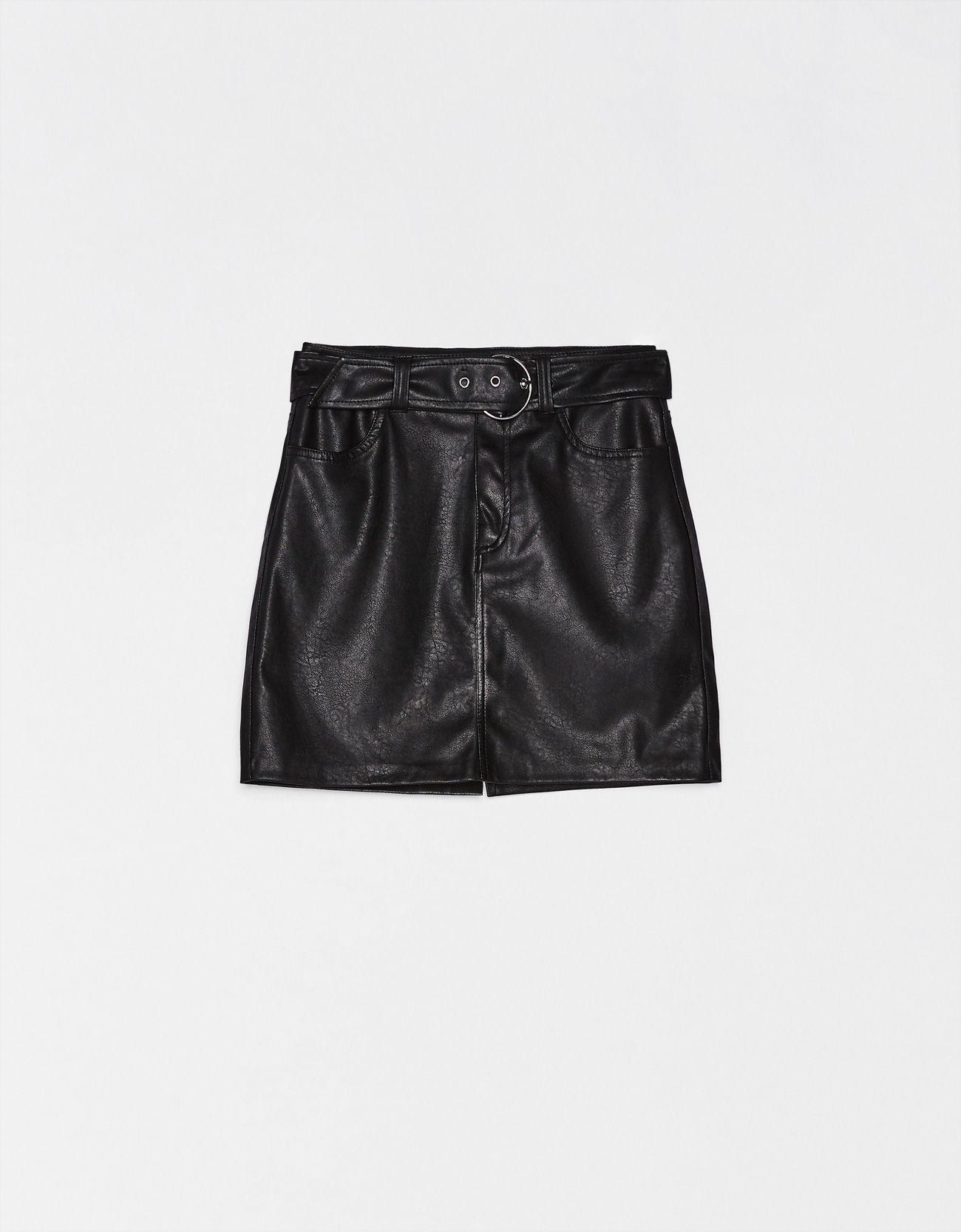 Falda Mini Efecto Piel Faldas Bershka España Everyday Outfits Buy Clothes Women