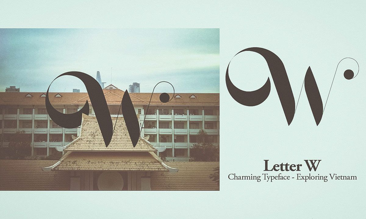 Charming Typeface - Exploring Vietnam on Behance