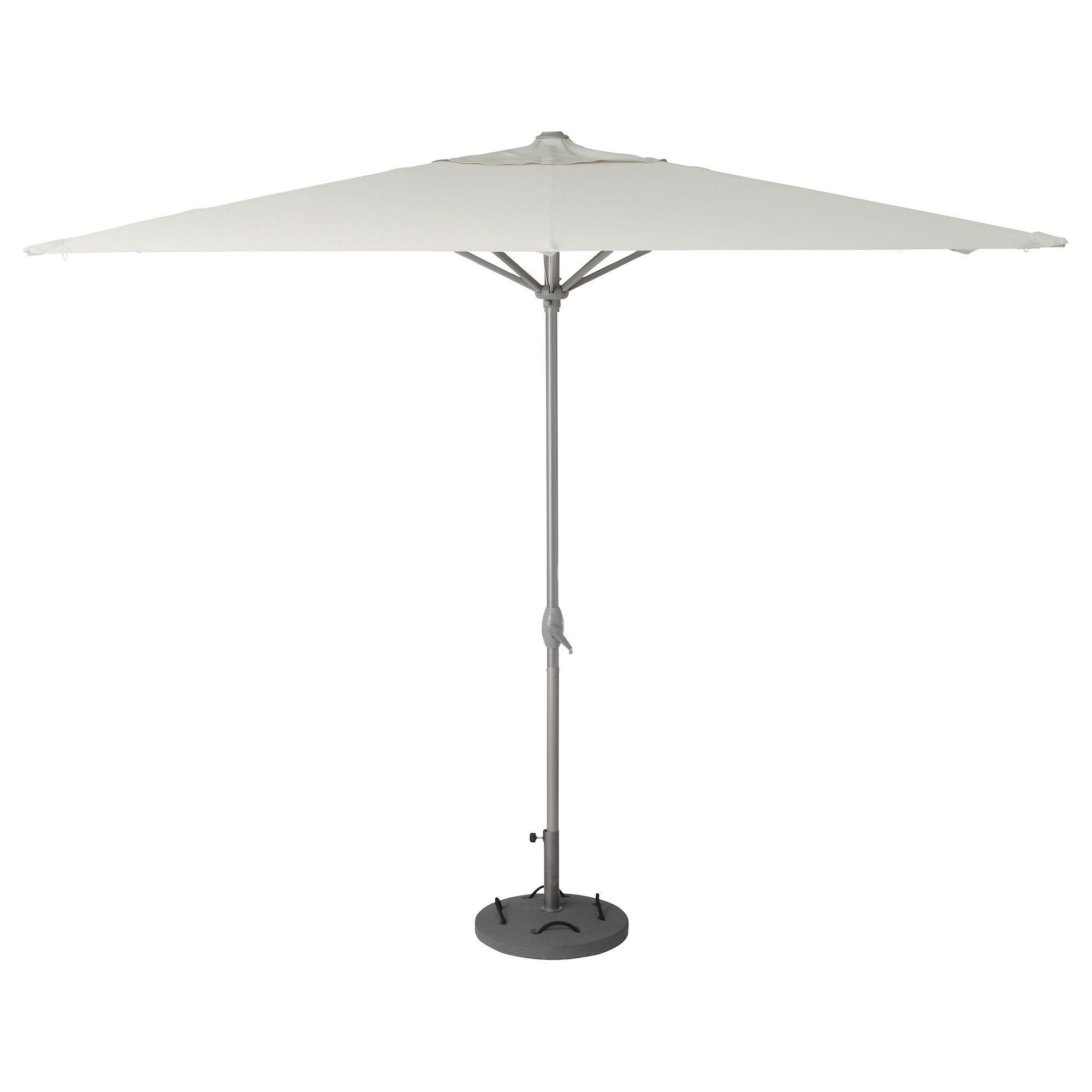 KARLS– L–K– Sonnenschirm mit Ständer beige grau IKEA