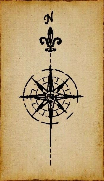 Compass Design Fleur De Lis Tattoo Ideas Compass Rose Tattoo