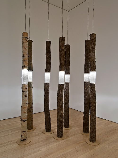 Cast Wood Art : Arboreal fragments cast glass found wood