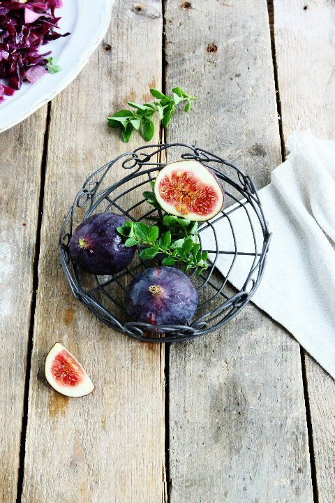 Purple Cabbage Fig Salad with Warm Walnut Vinaigrette