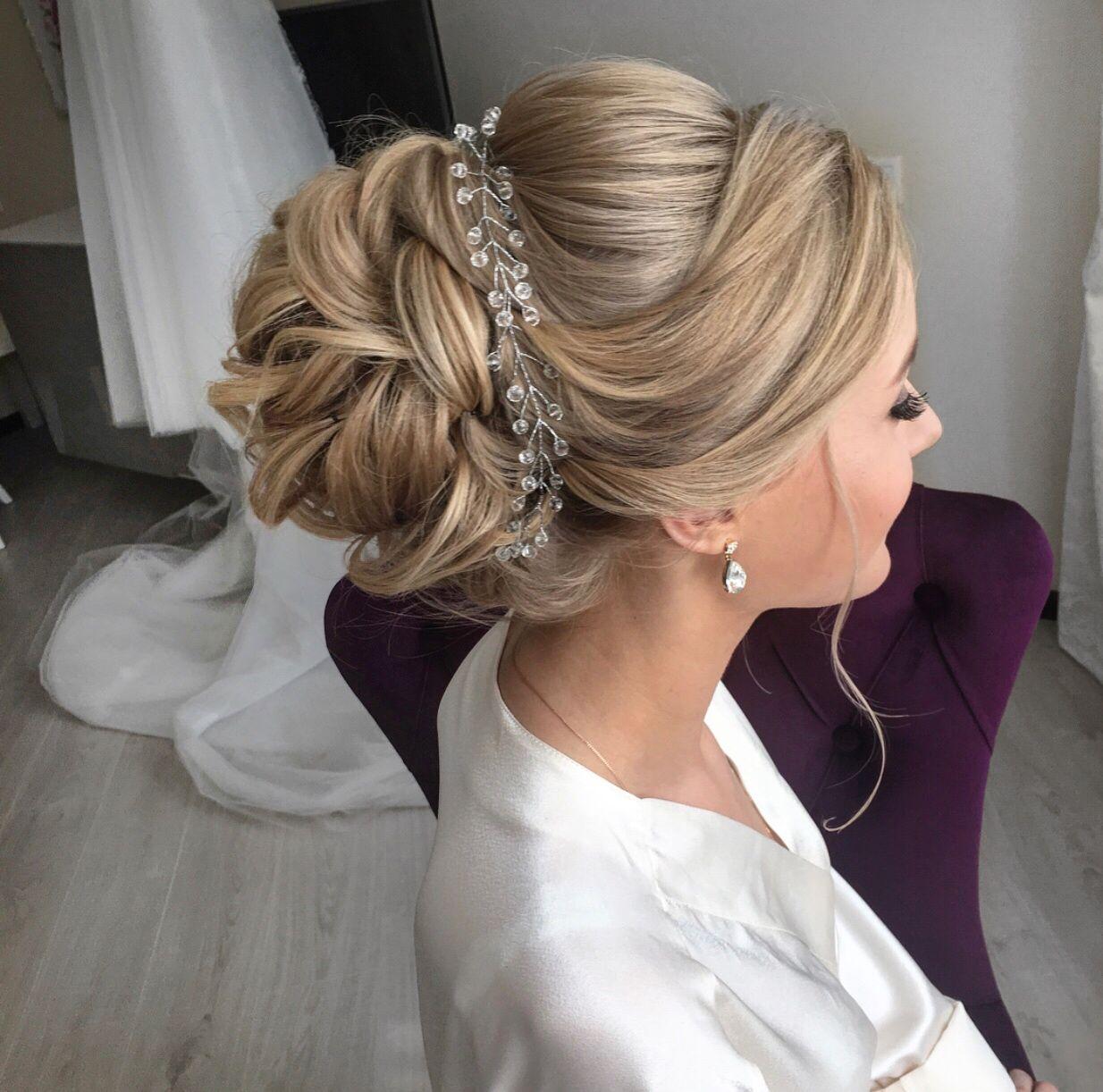 Прическа на средние волосы в картинках на свадьбу