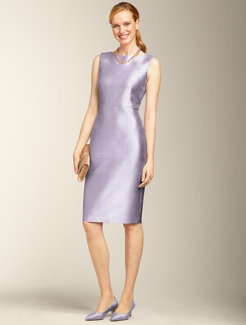 Talbots Silk Doupioni V Back Dress Clothes Dresses Fashion [ 1057 x 800 Pixel ]