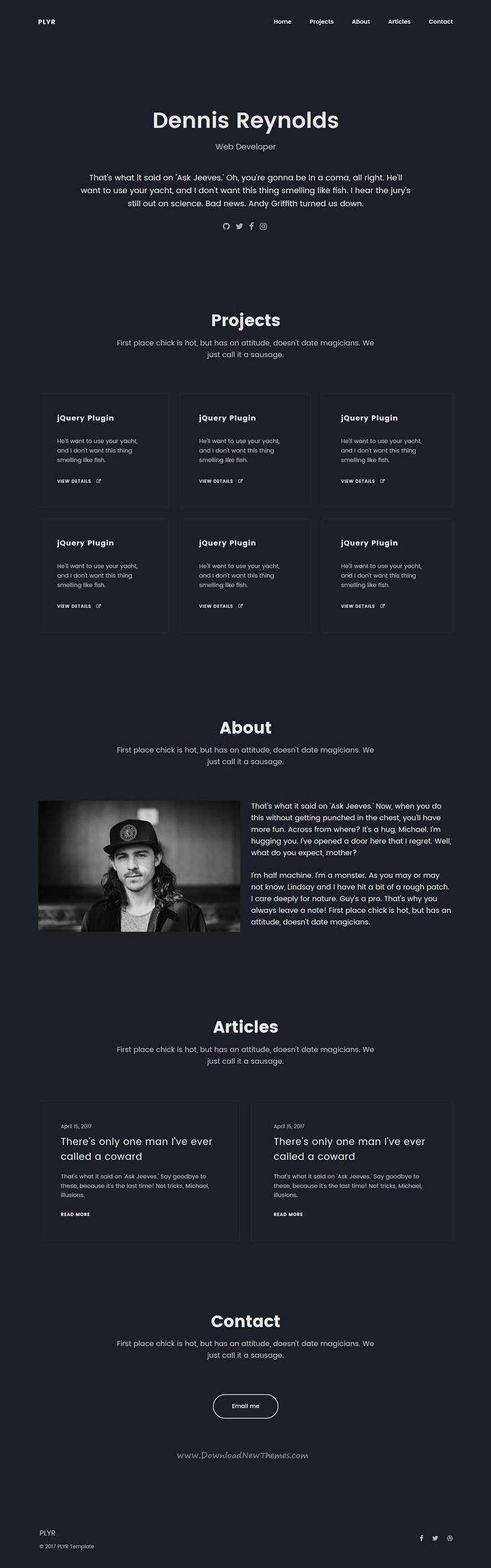 PLYR - One Page Portfolios For Everyone