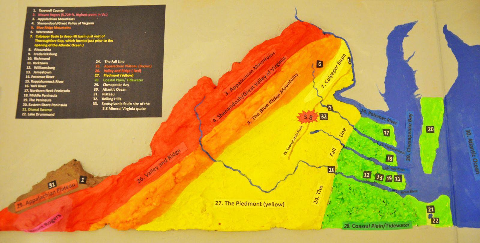 Salt dough map of VA | Salt dough, Virginia stus ... on salt dough project california regions map, 3d landform project map, create your own island project map,