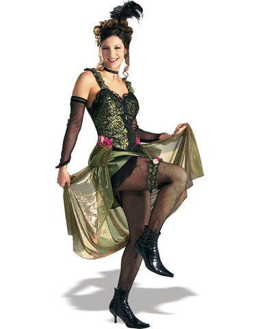 Grand Heritage Green Saloon Girl Adult Womens Costume costumes - hot halloween ideas