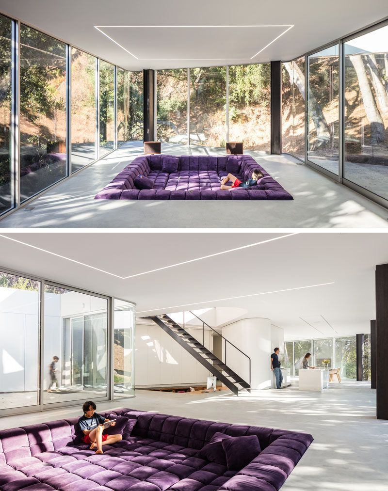 This New House Has A Sunken Living Room And A Sunken Home Office ...