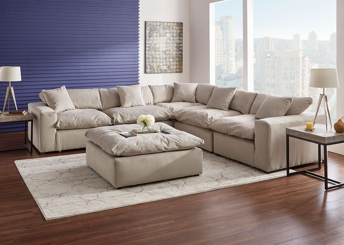 Posh Dove 5 Pc Sectional The Roomplace Home Living Room