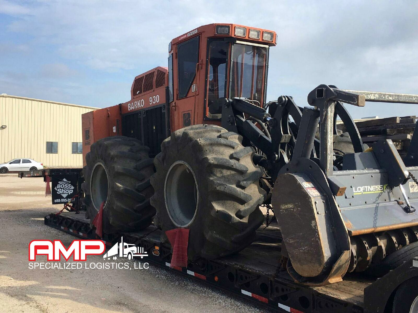 Heavy equipment hauling services equipment pickup and