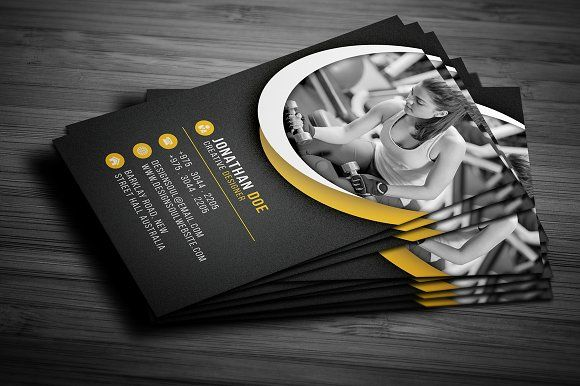 Fitness Business Card Pinterest Business Cards And Card Templates